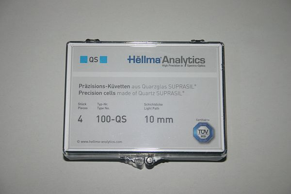 Hellma® Analytics Suprasil® Quarzküvetten 100-QS 10mm 4x