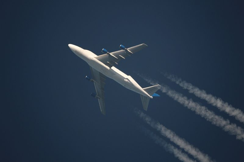 Boeing 747-409(LCF) Dreamlifter in cruising altitude