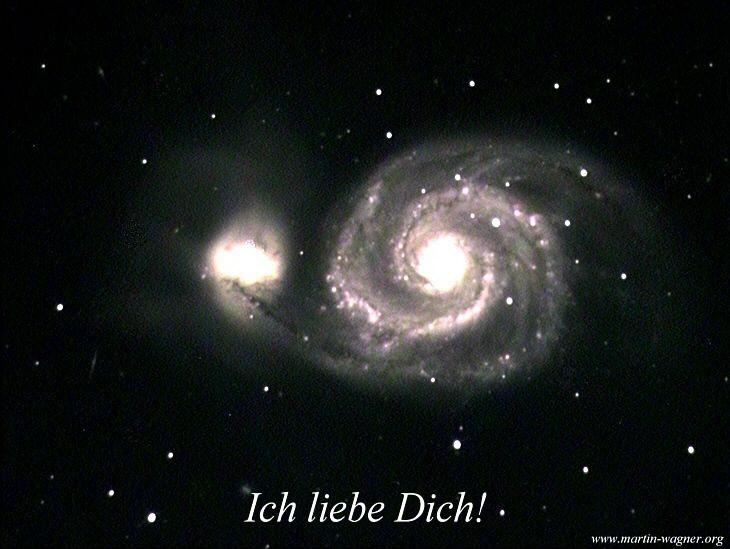 Ich liebe Dich: Galaxien beim Liebesspiel :-)))