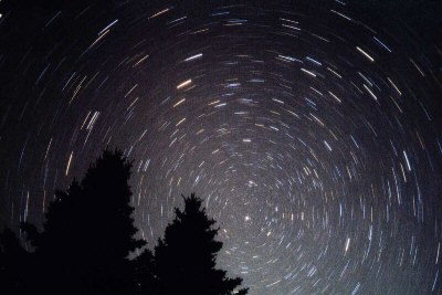 Turning stars with long-time exposure